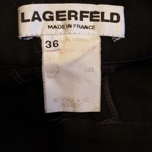 Karl Lagerfeld Pants - Vintage High Waisted Karl Lagerfeld Black Pants